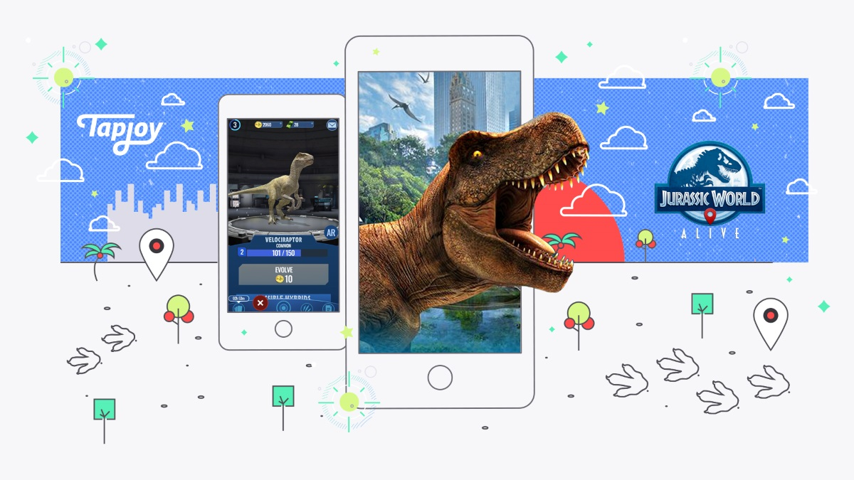 Tapjoy adds Jurassic World Alive, Helix Jump and more to